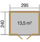 WEKA Gartenhaus »Gartenhaus 219 Gr.2«, BxT: 320 x 278 cm (Aufstellmaße), Pultdach-Thumbnail
