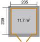 WEKA Gartenhaus »Gartenhaus 226 Gr.2«, BxT: 267 x 261 cm, Pultdach-Thumbnail