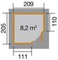 WEKA Gartenhaus »Gartenhaus 229 Gr.1«, BxT: 244 x 244 cm, Flachdach-Thumbnail