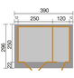 WEKA Gartenhaus »Gartenhaus 254 Gr.2«, BxT: 394 x 296 cm (Aufstellmaße), Flachdach-Thumbnail