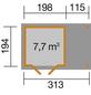 WEKA Gartenhaus »Gartenhaus 321 A Gr.1«, BxT: 337 x 237 cm (Aufstellmaße), Flachdach-Thumbnail