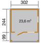 WEKA Gartenhaus »Gartenhaus 820 Gr.2«, BxT: 340 x 400 cm, Satteldach-Thumbnail