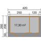 WEKA Gartenhaus »Gr.1«, B x T: 420 x 260 cm, Satteldach, inkl. Fußboden-Thumbnail
