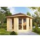 WOLFF FINNHAUS Gartenhaus »Katrin«, BxT: 352 x 352 cm, Spitzdach-Thumbnail
