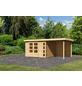 WOODFEELING Gartenhaus »Kerko 5«, BxT: 554 x 262 cm (Aufstellmaße), Flachdach-Thumbnail