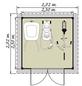 LUOMAN Gartenhaus »Lillevilla 564«, B x T: 272 x 272 cm-Thumbnail