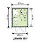 LUOMAN Gartenhaus »Lillevilla«, B x T: 272 x 322 cm, Satteldach, inkl. Fußboden-Thumbnail