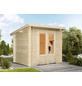 WOLFF FINNHAUS Gartenhaus »Lüttich«, BxT: 240 x 240 cm, Pultdach-Thumbnail