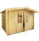 WOLFF FINNHAUS Gartenhaus »Lyon«, BxT: 324 x 290 cm, Satteldach-Thumbnail