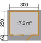 WEKA Gartenhaus »Premium«, BxT: 380 x 320 cm (Aufstellmaße), Satteldach-Thumbnail