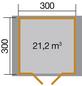 WEKA Gartenhaus »Premium«, BxT: 380 x 330 cm, Satteldach-Thumbnail