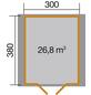 WEKA Gartenhaus »Premium«, BxT: 380 x 410 cm, Satteldach-Thumbnail