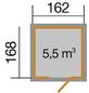 WEKA Gartenhaus »Schwedenhaus Gr. 1«, BxT: 200 x 208 cm (Aufstellmaße), Satteldach-Thumbnail