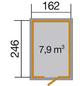 WEKA Gartenhaus »Schwedenhaus Größe 2«, B x T: 200 x 286 cm, Satteldach, inkl. Fußboden-Thumbnail