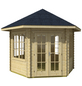 SKANHOLZ Gartenhaus, sechseckig, BxT: 350 x 373 cm, inkl. Dacheindeckung-Thumbnail