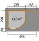 WEKA Gartenhaus-Set »Designhaus 213«, B x T: 442 x 278 cm, Flachdach, inkl. Fußboden-Thumbnail