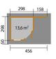 WEKA Gartenhaus-Set »Designhaus 213 Gr. 2«, B x T: 501 x 338 cm, Flachdach, inkl. Fußboden-Thumbnail