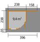 WEKA Gartenhaus-Set »Designhaus 213A Gr.1«, B x T: 442 x 278 cm-Thumbnail