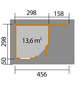 WEKA Gartenhaus-Set »Designhaus 213A Gr.2«, B x T: 501 x 338 cm-Thumbnail