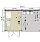 LUOMAN Gartenhaus-Set »Lillevilla«, B x T: 475 x 298 cm, Flachdach, inkl. Fußboden-Thumbnail