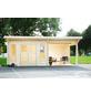 WOLFF FINNHAUS Gartenhaus »Trondheim«, BxT: 870 x 450 cm (Aufstellmaße), Pultdach-Thumbnail