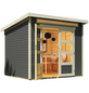 WOLFF FINNHAUS Gartenhaus »Venlo«, BxT: 265 x 236 cm (Aufstellmaße), Pultdach-Thumbnail