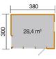 WEKA Gartenhaus »wekaLine 412 Gr.1«, B x T: 388 x 314 cm, Flachdach, inkl. Fußboden-Thumbnail