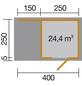 WEKA Gartenhaus »wekaLine 413A Gr.1«, B x T: 410 x 260 cm, Flachdach, inkl. Fußboden-Thumbnail