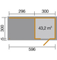 WEKA Gartenhaus »wekaLine 413B Gr.2«, B x T: 610 x 310 cm, Flachdach, inkl. Fußboden-Thumbnail