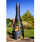 BUSCHBECK Gartenkamin »Colorado Mesh«, Ø 40 cm, Höhe: 105  cm, silberfarben/schwarz-Thumbnail