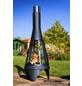 BUSCHBECK Gartenkamin »Colorado Mesh«, Ø 40 cm, Höhe: 105  cm, silberfarben/schwarz, pulverbeschichtet-Thumbnail