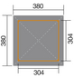 WEKA Gartenlaube, B x T: 380 x 380 cm, Zeltdach-Thumbnail
