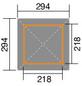 WEKA Gartenlaube »Gartenlaube 651«, Zeltdach, quadratisch, BxT: 294 x 294 cm, inkl. Dacheindeckung-Thumbnail