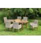 MERXX Gartenmöbelset »Ranzano«, 6 Sitzplätze, inkl. Auflagen, aus Akazienholz-Thumbnail