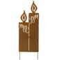 Gartenstecker, Kerze, Metall, rostfarben-Thumbnail
