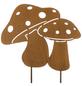 Gartenstecker, Pilz, Metall, rostfarben-Thumbnail