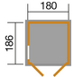 WEKA Gerätehaus, B x T: 205 x 206 cm, Satteldach-Thumbnail