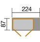 WEKA Gerätehaus, B x T: 270 x 105 cm, Satteldach, inkl. Fußboden-Thumbnail