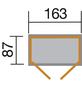 WEKA Gerätehaus, BxHxT: 185 x 216 x 105 cm, natur-Thumbnail
