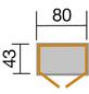 WEKA Gerätehaus, BxHxT: 88 x 160 x 50 cm, braun-Thumbnail