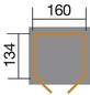 WEKA Gerätehaus, BxT: 171 x 140 cm, Bogendach-Thumbnail