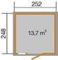 WEKA Gerätehaus »Schwedenhaus Gr.1«, BxT: 314 x 302 cm, Satteldach-Thumbnail