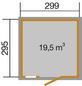 WEKA Gerätehaus »Schwedenhaus Gr.2«, BxT: 368 x 342 cm, Satteldach-Thumbnail