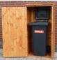 PROMADINO Geräteschrank, BxHxT: 72,5 x 148 x 68,6 cm, braun-Thumbnail