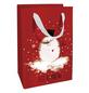Geschenktasche Bobby Snow, 11x16x5 cm, rot weiss-Thumbnail