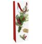 Geschenktasche Flasche Weihnachtsgrün, 12x37x8 cm, matt-Thumbnail