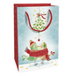 Geschenktasche Mistletoe Kiss, 11x16x5 cm, glänzend-Thumbnail