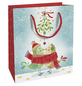 Geschenktasche Mistletoe Kiss, 18x21x8 cm, glänzend-Thumbnail
