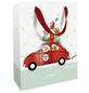 Geschenktasche Santas Car, 25x33x11 cm, matt mit Heissfolie-Thumbnail