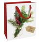 Geschenktasche Weihnachtsgrün, 18x21x8 cm, matt-Thumbnail